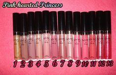 NYX Girls Round Lip Gloss - Pinky Natural (6) & Whipped (4)