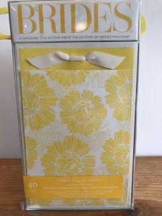 Yellow Floral Printable Invitation Kit 40 Count Brides Magazine Wedding Bridal #GartnerStudios