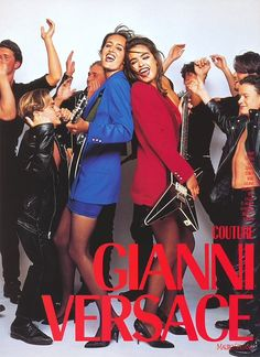 Gail Elliott & Talisa Soto for Gianni Versace f/w 1989 Gianni And Donatella Versace, Gianni Versace, Versace Versace, House Of Versace, Atelier Versace, Fashion Advertising, Advertising Campaign, Versace Family, Irina Pantaeva