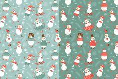 Funny Snowmen by lenlis on @creativemarket