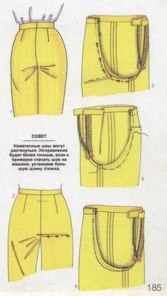 php - Best Sewing Tips - Her Crochet Sewing Lessons, Sewing Class, Sewing Basics, Sewing Pants, Sewing Clothes, Diy Clothes, Techniques Couture, Sewing Techniques, Clothing Patterns
