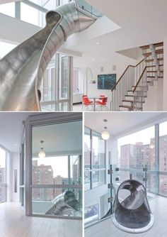 im so gona do this! its like a super hero house and when your called into action you take the slide :D