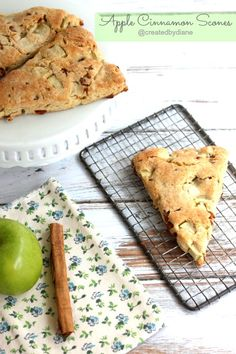 ~ Cinnamon chips make these apple scones super delicious. Perfect to serve for any brunch or breakfast. Hurry and whip up a batch right now! Will have to keep my eyes open for the cinnamon chips! Apple Scones, Cinnamon Scones, Cinnamon Chips, Cinnamon Apples, Apple Recipes, Fall Recipes, Sweet Recipes, Brunch Recipes, Breakfast Recipes