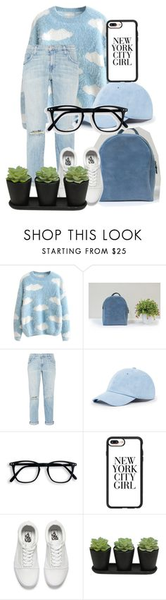 """NY city girl"" by belle-papillon ❤ liked on Polyvore featuring Current/Elliott, Sole Society, Casetify and Vans"