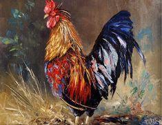 Dessin et peinture - vidéo 1414 : Comment peindre des coqs, à la peinture à l'huile et au couteau?