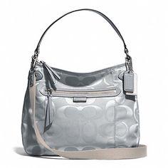 cross body bags: Coach Daisy Multi Signature Convertible Hobo in Grey - Style 29308 Coach Handbags, Coach Purses, Hobo Style, Grey Fashion, Convertible, Crossbody Bag, Zip, Best Deals, Daisy