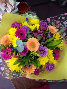 Bright and cheerful handtied such lovely bright colours x
