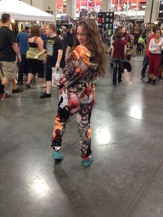 Our Customer Service Rep, Rachel, working her Cat Collage Belovesie at Comic-Con 2014! :)