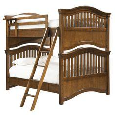 Brighton Full Bunk Bed in Saddle Brown