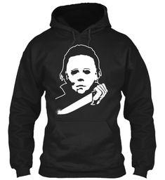 Perfect Halloween Shirt, Horror Costume Black T-Shirt Front Michael Myers, Michaels Halloween, Halloween 2, Horror Shirts, Halloween Sweatshirt, T Shirt Costumes, Hoodies, Sweatshirts, Black Hoodie