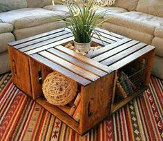 Sweet crate coffee table