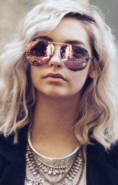 70d97fa7bff Quay Australia x Amanda Steele Muse Sunglasses Gold Pink