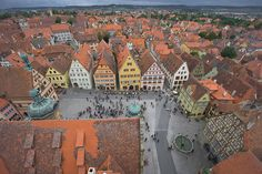 Rothenburg ob Der Tauber, by PhotosbyFlood. Image captured from high above town in bell tower.