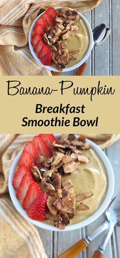 Banana-Pumpkin Breakfast Smoothie Bowl [ Paleo - AIP ]