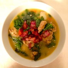 Potato Soup with Kale and Italian Sausage - Whole30 and Paleo