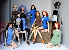 The Doll Whisperer: DOLLMINO: unique doll fashion
