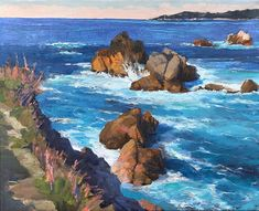 Whalers Cove.  Did some refining on this plein air 16 x 20. Check out the original about 20 paintings down in my feed. Its quite different. Some areas I left alone while many were refined and reworked. When Im outside looking at my subject its quite hard to capture detail especially at 16 x 20. I try to capture the feeling and colours of the scene as I see it. Now that Im back in the studio for a while Ill be refining a few of these larger studies. Especially the ones that got stuck… Left Alone, Im Back, Larger, The Outsiders, Beautiful Places, Scene, Colours, Paintings, The Originals