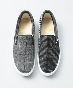 BEAUTY&YOUTH × HARRIS TWEED × VANS SLIP-ON | Minimal + Chic | @CO DE + / F_ORM