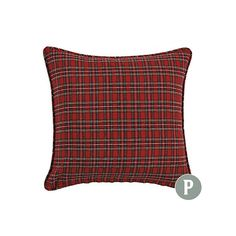 "$39 20"" Suzanne Kasler Signature Holiday Plaid Pillow"