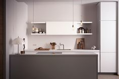 bulthaup - b1 keuken - wit - hangkasten - keukeneiland - decoratie - design