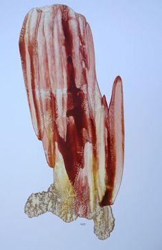 FRACTAL #10  Oil dispersion / paper 95 x 70 cm art WORK for SALE