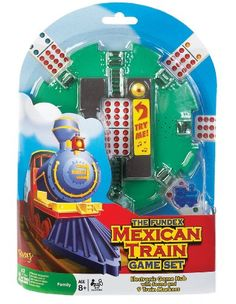 d800938af53 POOF-Slinky 0X5478 Ideal Mexican Train Game Set with Electronic Sound  Effect Game Hub and