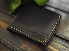 Free Engraving - Mens Leathet Wallet/ Minimal Wallet/Custom Wallet /Slim Wallet with initials/Bifold Wallet/Gift Ideas for Him/Birthday Gift