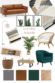 Living room Mood board – home decor on a budget rental Boho Living Room, Home And Living, Living Room Decor Budget, Modern Living, Cozy Living, Living Room Inspiration, Home Decor Inspiration, Design Inspiration, Deco Studio