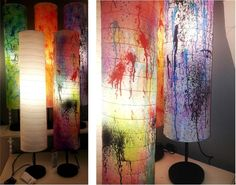 Get creative! Turn a regular HOLMÖ paper floor lamp into an original design with this step by step DIY blog post.