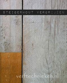 Verftechnieken.nl - nieuw steigerhout oud maken