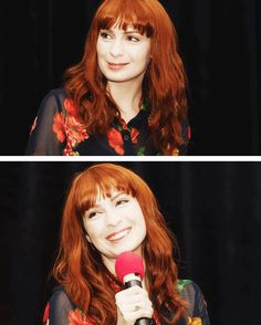 LOVE her hair! Obsessed! [SET OF GIFS] Felicia Day convention panel #VanCon2013