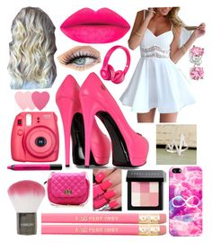 """Barbie Pink"" by makaypay on Polyvore featuring Philipp Plein, Casetify, Topshop, Beats by Dr. Dre, Bobbi Brown Cosmetics, Bling Jewelry, Urban Decay, Sephora Collection, women's clothing and women"