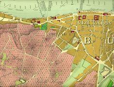 Ilyen is volt Budapest - Országút és Víziváros, térképrészlet Hungary, Budapest, Old Photos, Tarot, City Photo, London, Old Pictures, Vintage Photos, London England