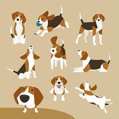 Beagle - 그래픽 디자인 · 일러스트레이션, 그래픽 디자인, 일러스트레이션, 그래픽 디자인, 일러스트레이션 #Beagle