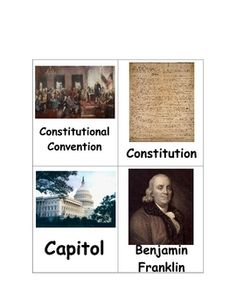 Constitution Day matching card game