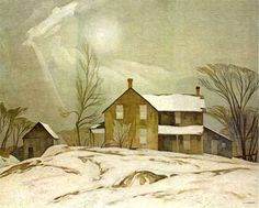 A.J. Casson Farm House March Day