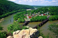 Harpers Ferry, West Virginia  where Potomac and Shenandoah rivers meet