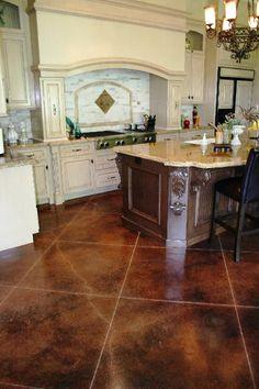 concrete floorlike this look | bathroom design ideas