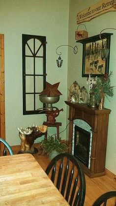 Great antique cream separator and fabulous old window primitive grouping