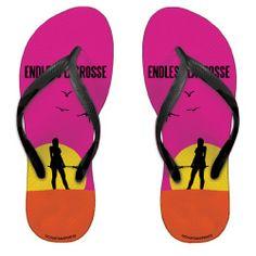 Endless Lacrosse Girls Flip Flops