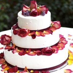 simple rose petal cake