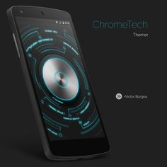 Chrome Tech Android Homescreen by THENext - MyColorscreen