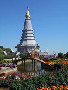 Queen's chedi (stupa) - Doi Inthanon National Park. Thailand