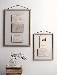 Inspired by simple and stylish Scandinavian design and made in Denmark, our hanging frames have been crafted from four oak pieces, two sheets of high quality plexiglass and a smooth black rubber band. Available in two sizes, each hanging frame Decor, Interior Design Themes, Frame Stand, Glass Picture Frames, Hanging, Photo Frames, Frame, Glass Pictures, Hanging Frames