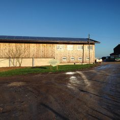 1) The 'swiss barn' soon to be home to Toms Dairy Restaurant and Farm Shop
