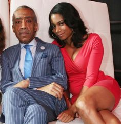 "This Is Al Sharpton's Much-Younger Girlfriend - Why, Al, you ""Dirty Old Man"" - Can anybody say ""Gold-digger""? -"
