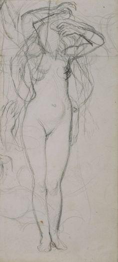 Jean Auguste Dominique Ingres _ Etude pour La Source, vers 1820