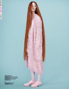 fifty shades of pink: magdalena jasek by maurizio bavutti for harper's bazaar china february 2015