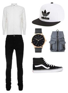 """""""Casual"""" by delaneycoggin ❤ liked on Polyvore featuring Corneliani, AMIRI, Vans, The Horse, adidas, Dune, men's fashion and menswear"""