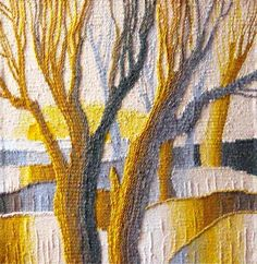 All hand made gobelin tapestry photo. Tapestry Loom, Tree Tapestry, Tapestry Wall, Abstract Tree Painting, Yarn Painting, Weaving Art, Loom Weaving, Hand Weaving, Wool Art
